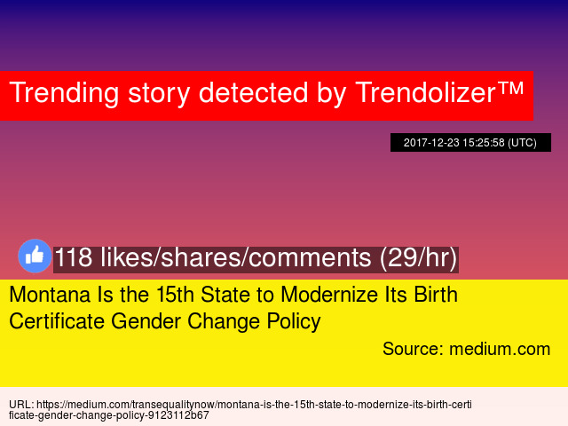 Montana Is the 15th State to Modernize Its Birth Certificate Gender ...