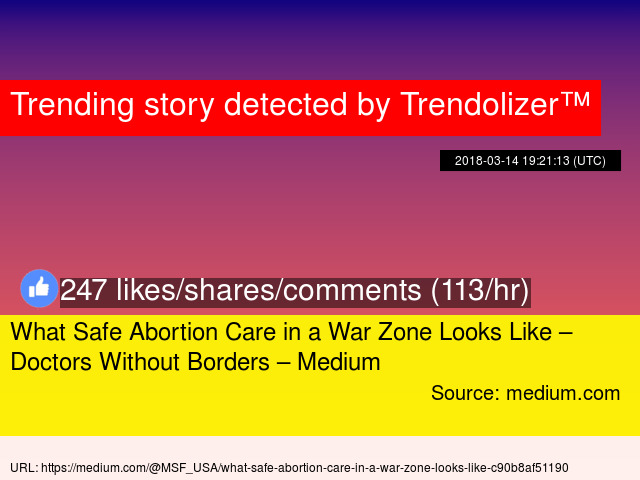 What Safe Abortion Care In A War Zone Looks Like Doctors Without Borders Medium