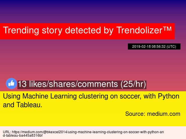 Using Machine Learning clustering on soccer, with Python and