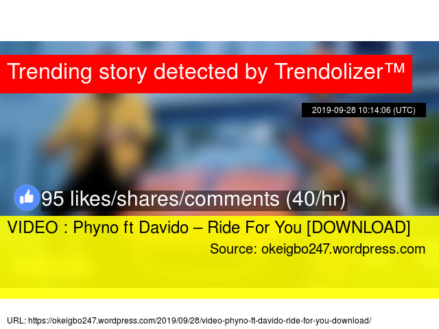 Video Phyno Ft Davido Ride For You Download
