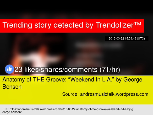 "Anatomy of THE Groove: ""Weekend In L.A."" by George Benson"